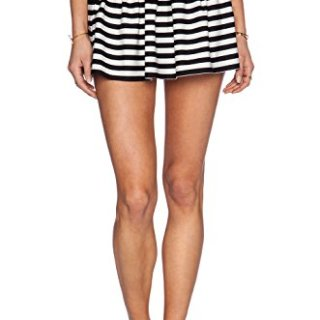 Kate Spade New York Women's Georgica Beach Striped Skirt, Black, Small