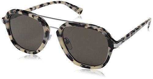 Marc Jacobs Aviator Sunglasses, Havana Beige/Gray Blue, 54 mm