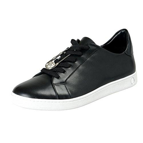 Versace Versus Men's Black Leather Fashion Sneakers Shoes Sz US 7 IT 40