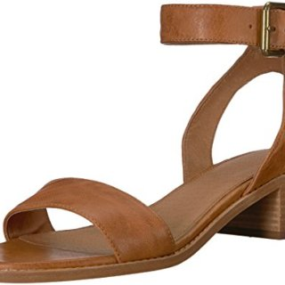 FRYE Women's Cindy 2 Piece Heeled Sandal, Camel, 6 M US