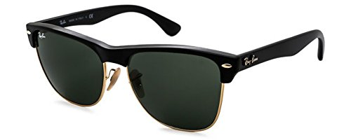 Ray-Ban Square Sunglasses (57mm Matte Black Frame w/ Solid Black G15 Lens)
