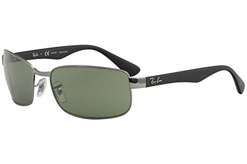 Ray-Ban Unisex Gunmetal/Crystal Green Polarized One Size