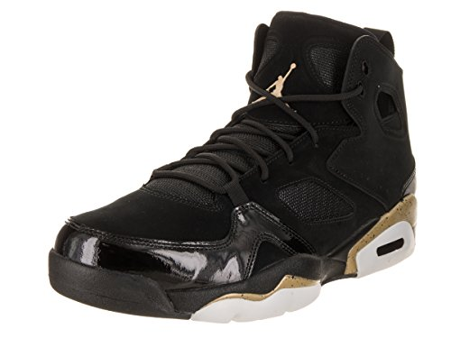 Jordan Mens FLTCLB 91 Black Metallic Gold White Size 8.5