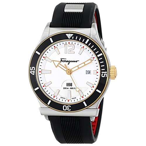 Salvatore Ferragamo Men's SPORT Analog DisplaySwiss Quartz Black Watch