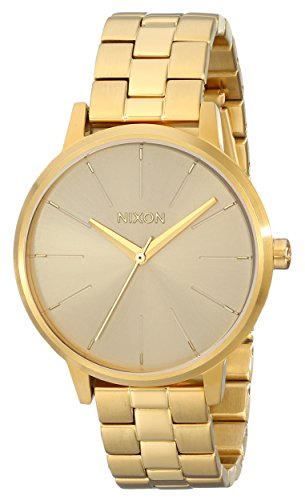 Nixon Womens Kensington Japanese quartz Stainless Steel watches All Gold