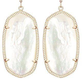 Kendra Scott Women's Danielle Earrings Rose Gold/Ivory Mother Of Pearl Earring