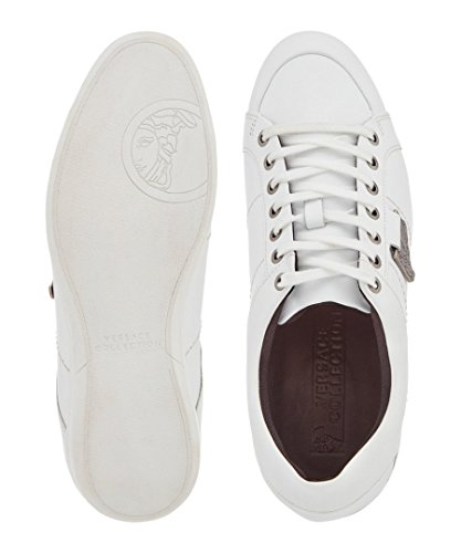 3051e8f704911 Versace Collection Men's White Leather Plague Sneakers (44 EU/11 US) Clout  Wear Fashion for Womens, Fashion for Mens, Fashion for Kids