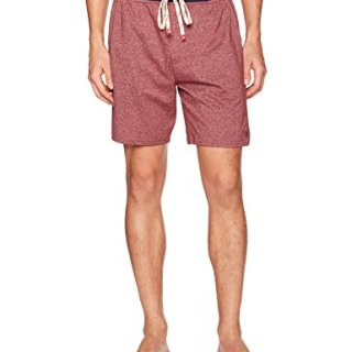 Original Penguin Men's Marled Sleep Short, Pomegranate, L