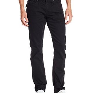 True Religion Men's Ricky Relaxed Fit Flap Pocket Jean In Midnight Black, Midnight Black, 34x34