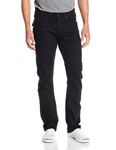True Religion Men's Ricky Relaxed Fit Flap Pocket Jean In Midnight Black, Midnight Black, 34x34