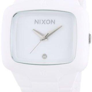 Nixon Men's Rubber Analog White Dial Watch