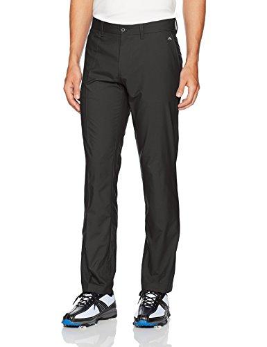 J.Lindeberg Men's Elof Slim Fit Light Poly Pant, Black, 32/32
