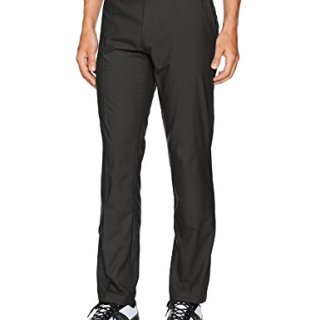 J.Lindeberg Men's Elof Slim Fit Light Poly Pant, Black, 32/32