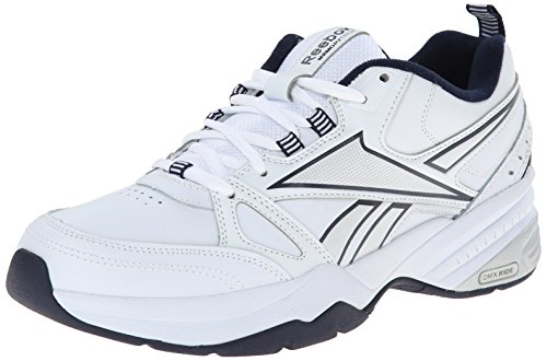 Reebok Men's Royal Mt Cross-Trainer Shoe, White/Collegiate Navy/Pure Silver, 11 M US