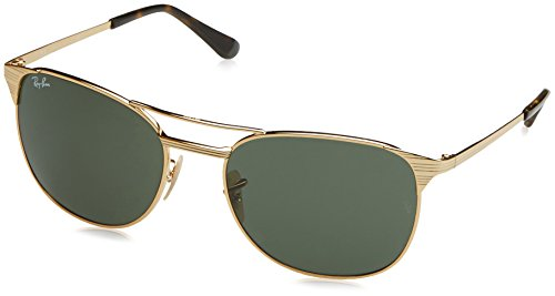 Ray-Ban Men's Metal Man Square Sunglasses, Gold, 58 mm