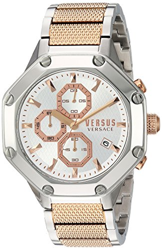 Versus by Versace Men's 'KOWLOON' Quartz Stainless Steel Casual Watch, Color Two Tone
