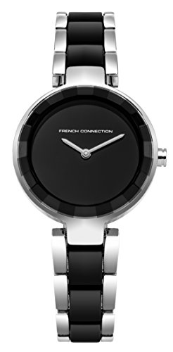French Connection Women's Quartz Metal and Stainless Steel Casual Watch, Color:Black (Model: FC1303BSM)