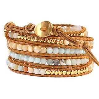 Chan Luu Stone Mix Wrap Bracelet (Multi Amazonite Mix)