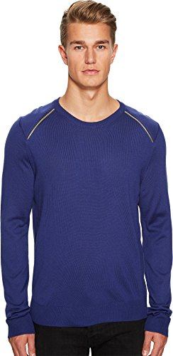 Just Cavalli Men's Zipper Detail Sweater Spectrum Blue Sweater