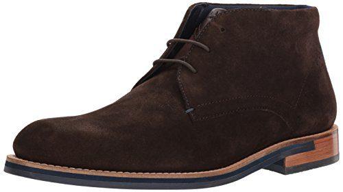 Ted Baker Men's Daiino Boot, Brown (Navy Sole) Suede, 10 D(M) US