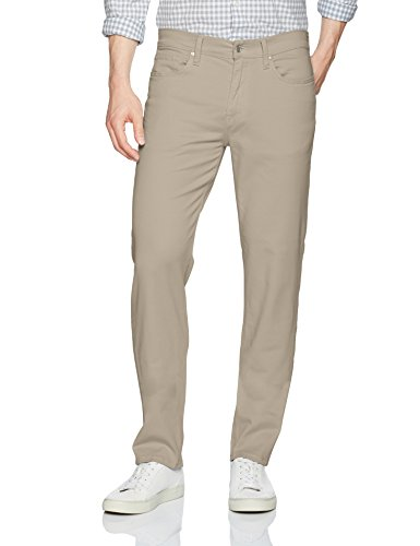 Joe's Jeans Men's Kinetic Twill Brixton Straight and Narrow Jean in Stevenson Colors, New Ecru, 33