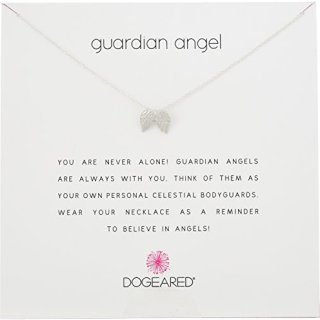 """Dogeared Reminders Guardian Angel Sterling Silver Angel Wings Charm Necklace, 16""""+2"""" Extender"""