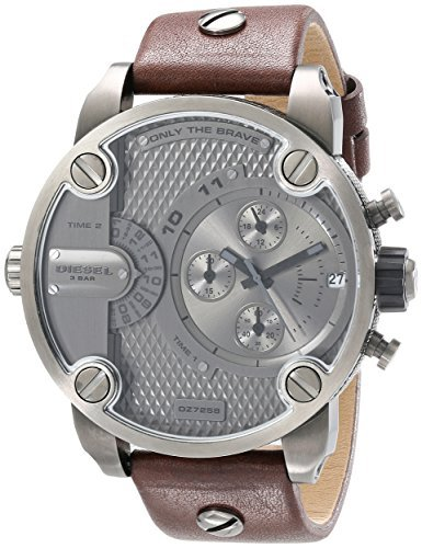 Diesel The Daddies Series Quartz Grey Dial Male Watch