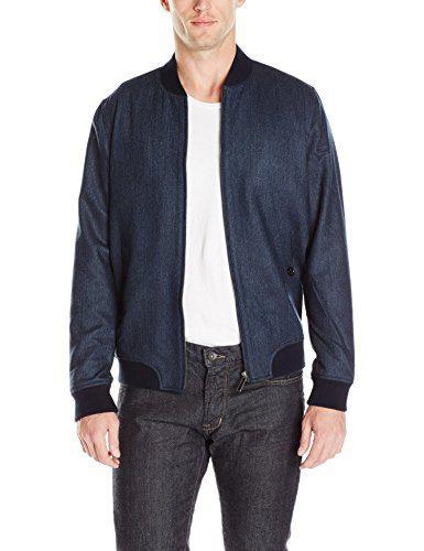 Ted Baker Men's Belise Bomber Jacket, Blue, 2/Small