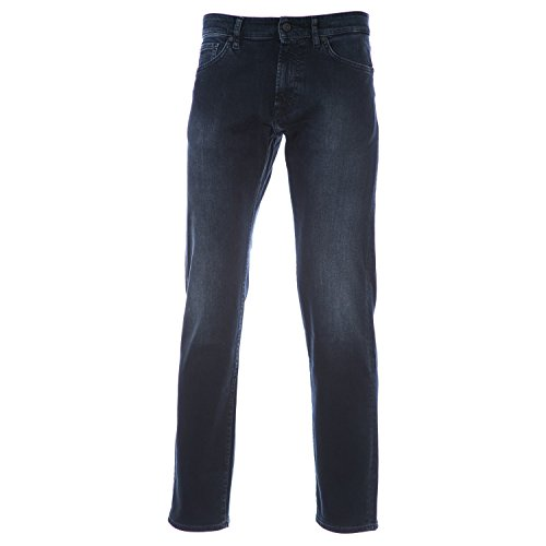 BOSS Maine Jean in Black Overdye Blue 32R