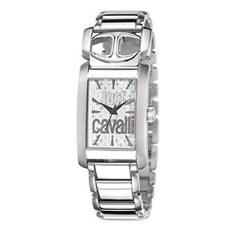 Just Cavalli 25mm Silver Steel Bracelet & Case Mineral Women's Watch