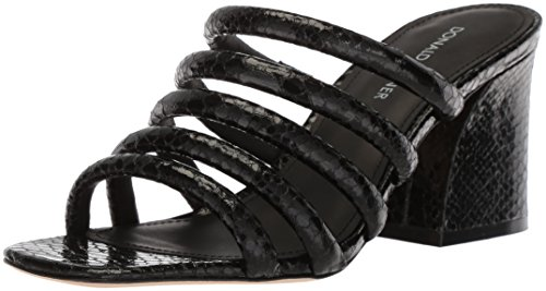 Donald J Pliner Women's Wes Heeled Sandal, Black, 7.5 Medium US