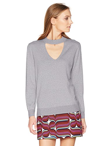 Trina Turk Women's Graham Sweater, Heather Grey, Large