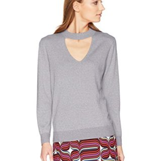 Trina Turk Women's Graham Sweater, Heather Grey, Large