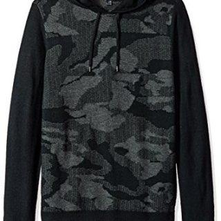 John Varvatos Men's Pullover Hoody, Black, XX-Large