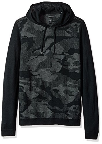 John Varvatos Men's Pullover Hoody, Black, XX-Large