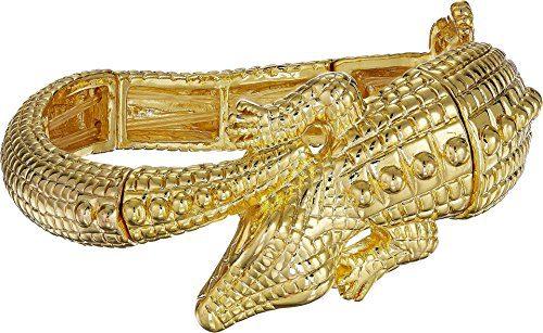 Kenneth Jay Lane Women's Gold Alligator Stretch Bracelet Gold One Size