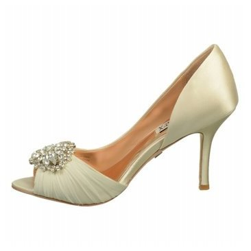 Badgley Mischka Women's Pearson D Orsay Pump,Vanilla Satin,8.5 M US