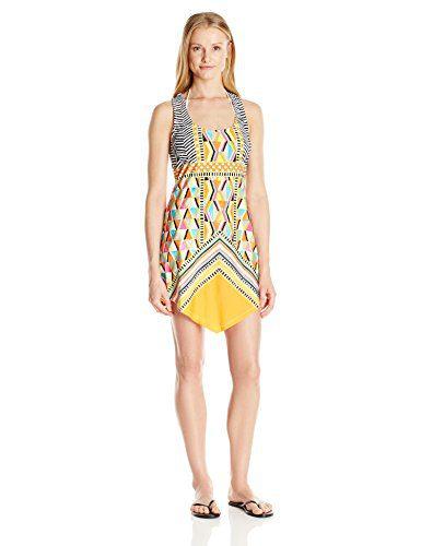 Trina Turk Women's Brasilia Short Dress Cover up, Multi, M