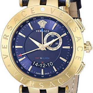 Versace Men's V-Race Get Alarm Analog Display Quartz Blue Watch