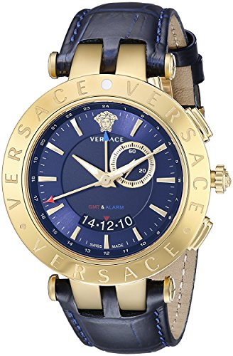 Versace Men's V-Race Get Alarm Analog Display Quartz Blue Watch