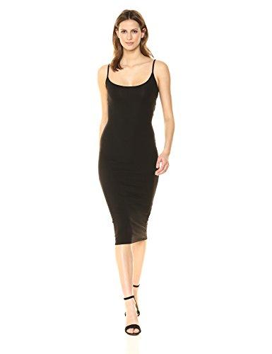 Enza Costa Women's Strappy Back Twist Midi Dress, Black, M