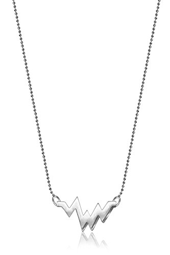 Alex Woo Little Elements Sterling Silver Heartbeat Pendant Necklaces