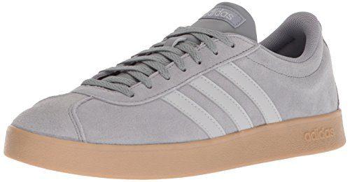 adidas Men's VL Court 2.0, Grey Three/Grey Two/Gum, 9.5 M US