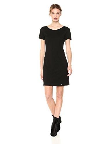 A X Armani Exchange Women's Classic Slim Work Dress, Black, M