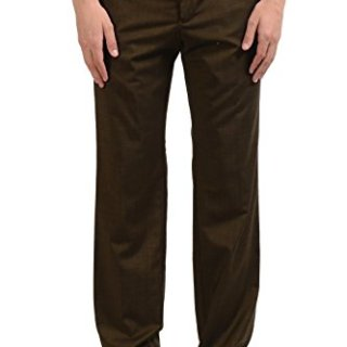 Versace Collection Men's Wool Dark Green Dress Pants US 36 IT 52;