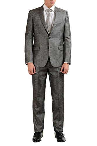 Versace Collection Wool Gray Two Button Men's Suit US 42 IT 52;