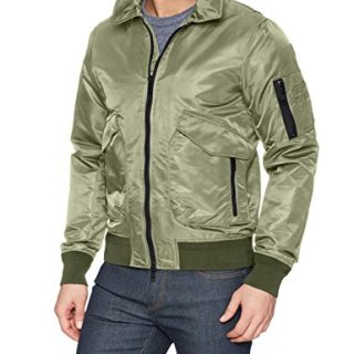 J.Lindeberg Men's Nylon Flight Jacket, Beetle, Medium