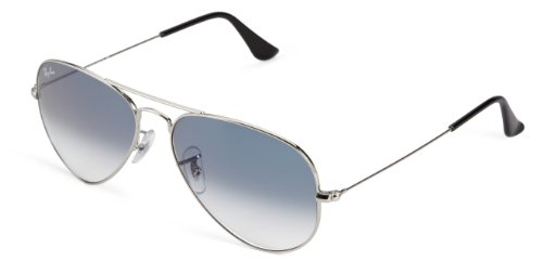 Ray-Ban Unisex-Adult Aviator Large Metal Aviator Sunglasses, SILVER, 55 mm