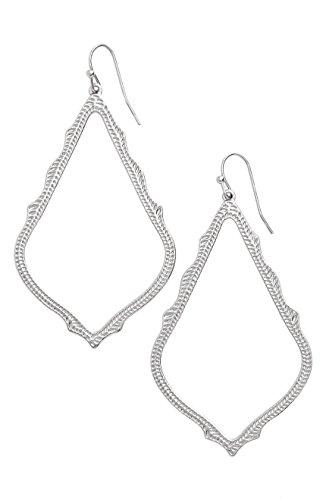 Kendra Scott Signature Sophee Textured Silver Drop Earrings