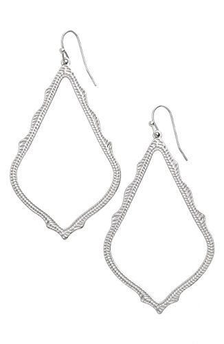 Kendra Scott Signature Sophee Textured Silver Drop Earrings